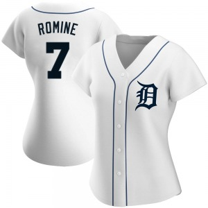 Women's Detroit Tigers Austin Romine White Home Jersey - Authentic