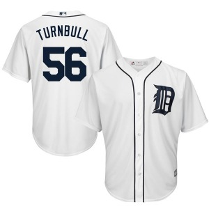 Youth Majestic Detroit Tigers Spencer Turnbull White Cool Base Home Jersey - Authentic