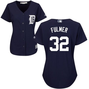 Women's Majestic Detroit Tigers Michael Fulmer Navy Cool Base Jersey - Authentic